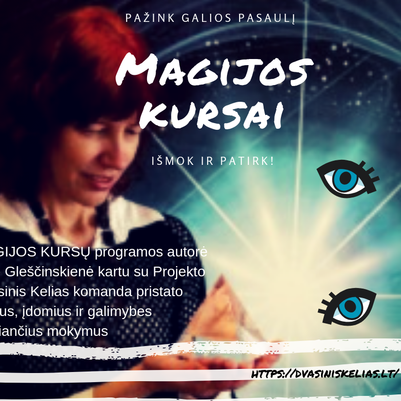 Magijos kursai reklama